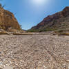 A dry riverbed crossing along the trail getting to the Dome loop.