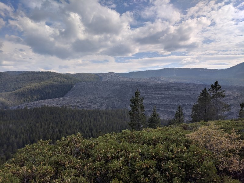view of obsidian flow from trail