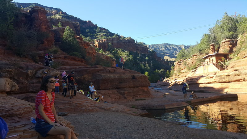 Swimming pool at Slide Rock