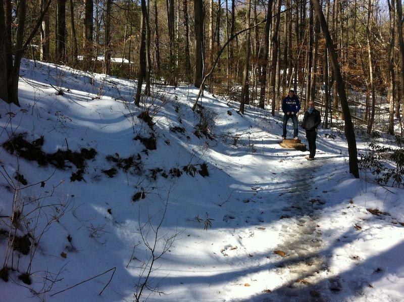 Snowy trail.