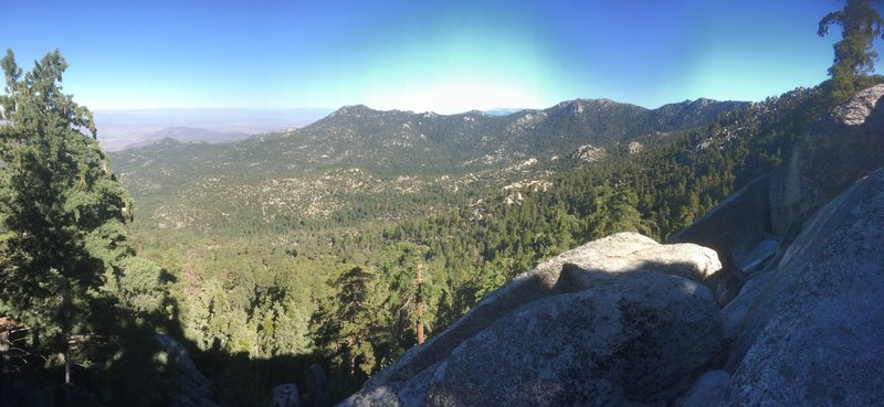 Marion Mountain - rock view of valley