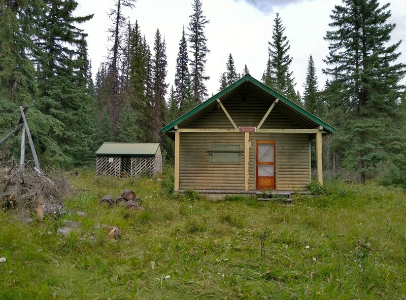 The Shalebanks Warden Cabin on the North Boundary Trail.  One of several Parks Canada cabins used for maintenance, etc. these historical working wardens cabins are about a century old.