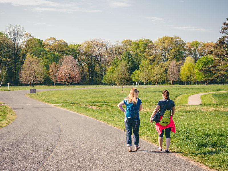 Strolling through the National Arboretum.