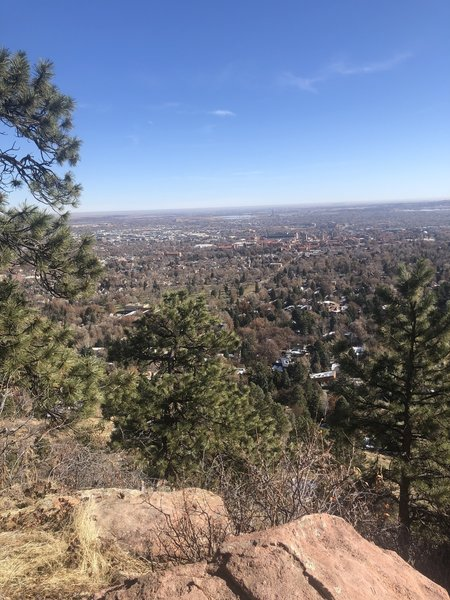 Gorgeous lookout from Flagstaff Mountain