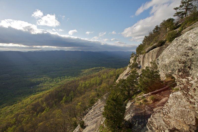Cliffs on Yonah Mountain