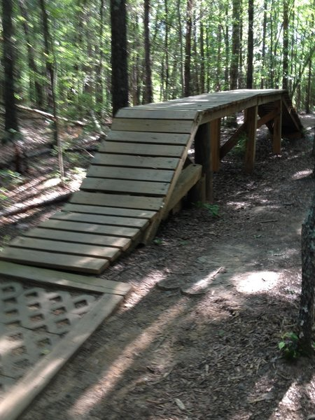 A wooden obstacle