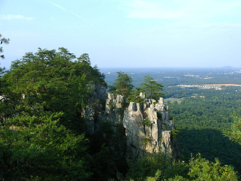 Crowder's mtn. aug 2005 - view looking north