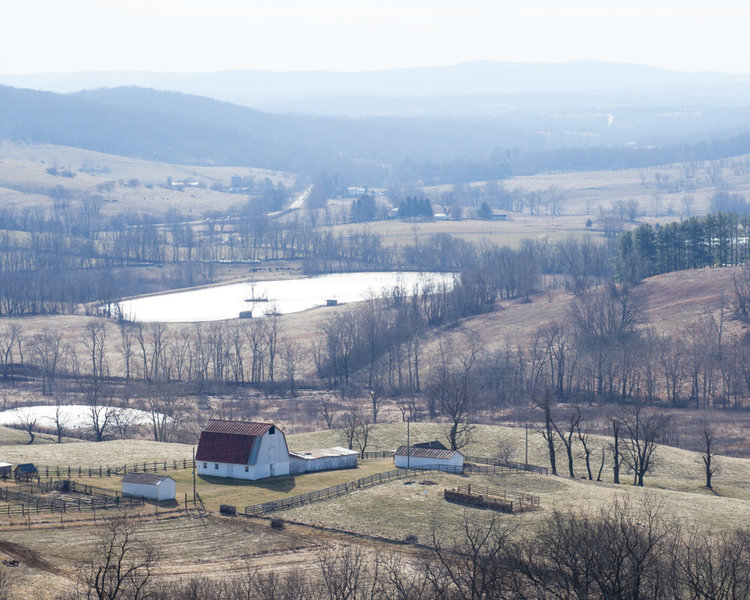 Overlook of Sky Meadows from the Piedmont Overlook Trail