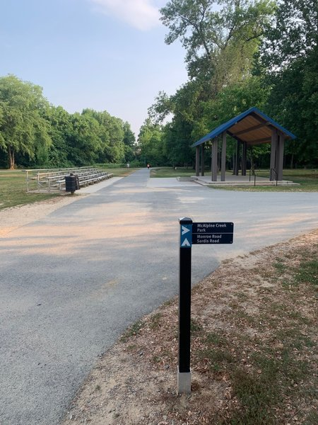 Playground & Marker on the trailway