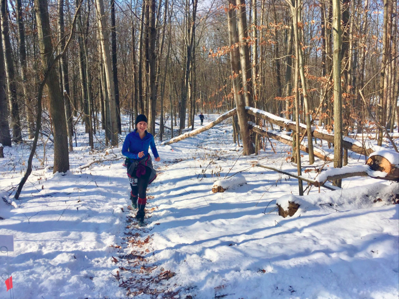 A runner making loops out of the WTF course in December.