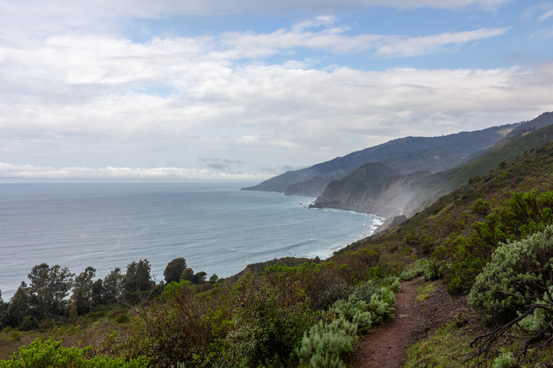 Ocean view from the ascent on Kirk Creek Trail