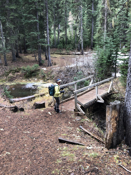 Trail crossing Buck Creek