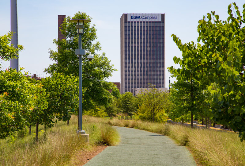 Railroad Park - BBVA Compass Tower - Birmingham, Alabama