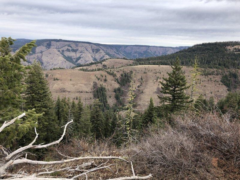 Nine Mile Ridge above Buck Creek Canyon