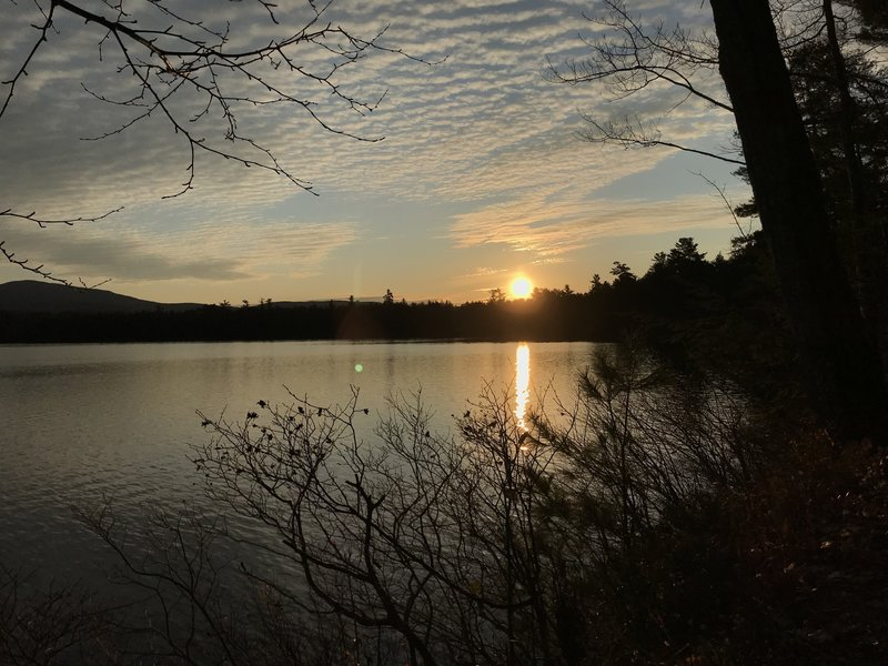 Sunrise over Kezar Lake.