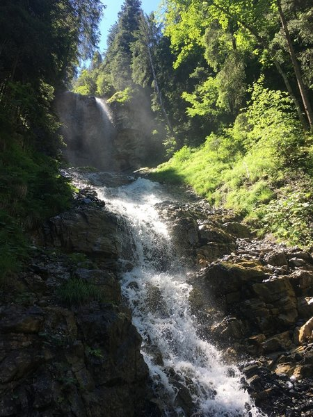 Great waterfalls on the Lutschine River.