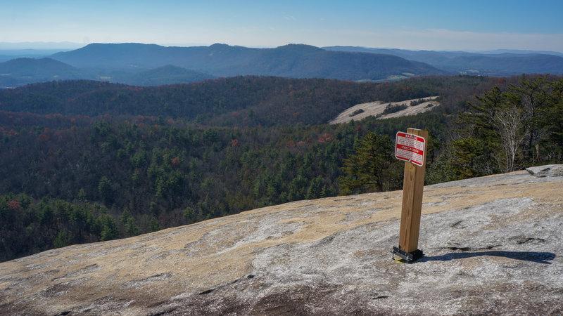 new danger sign installed in very dangerous spot
