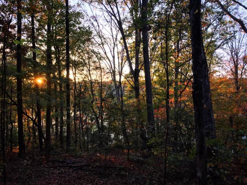 The sun sets over the Catawba River along the North Main Loop.