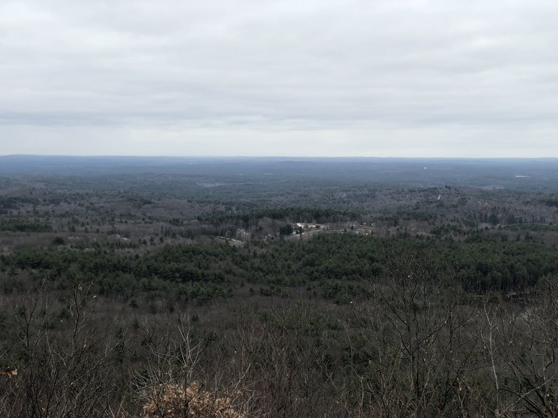 On a clear day you can see Boston from the Summit Trail