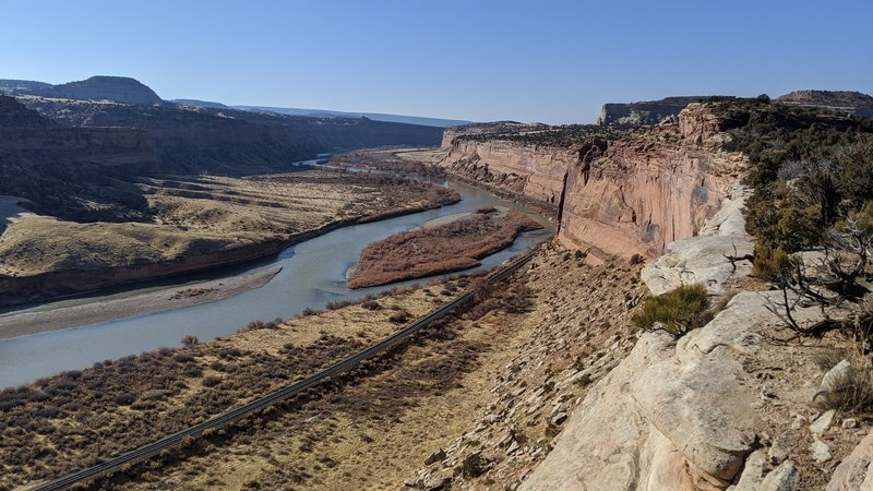 Some of the last views of the Colorado River runnin Joufla's Loop clockwise
