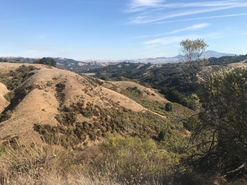View of the Lafayette Reservoir from the Rim Trail