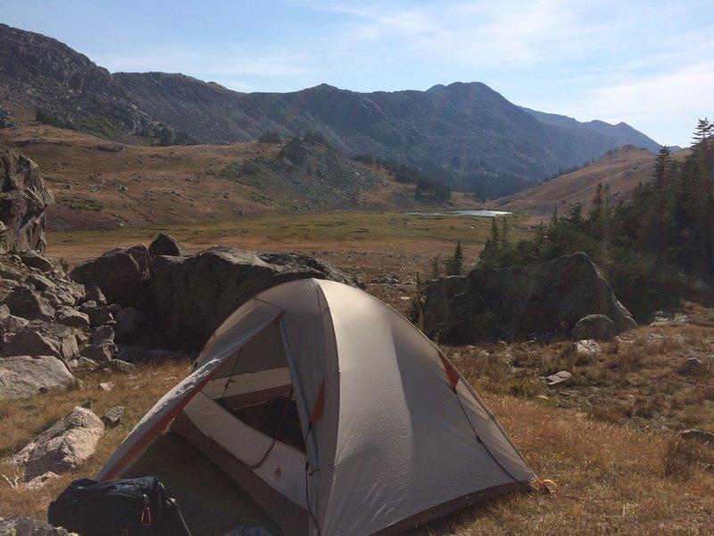 Camp at the base of Cloud Peak