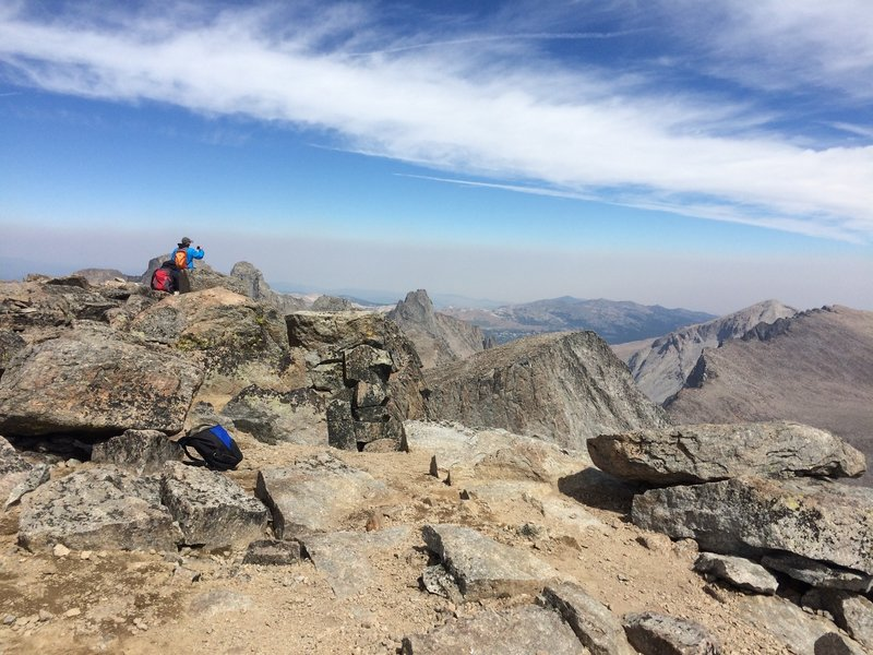 August 2016 - At the Summit of Cloud Peak, looking North