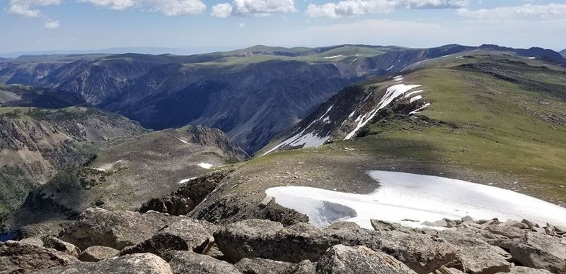 July 2019 - Looking south from Beartooth Plateau
