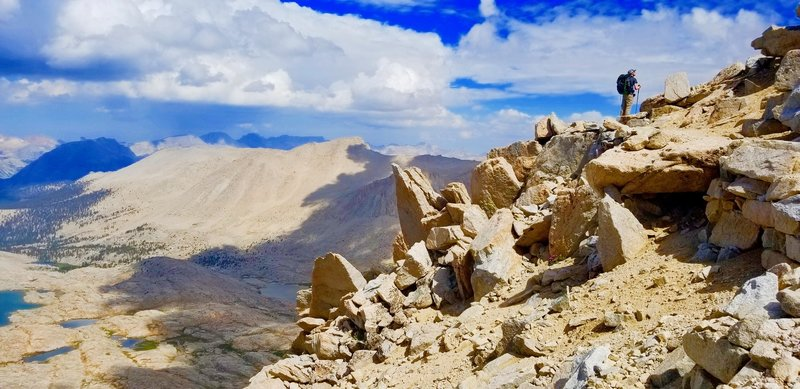 July 2018 - JMT thru hike. On our way up to summit Mt. Whitney