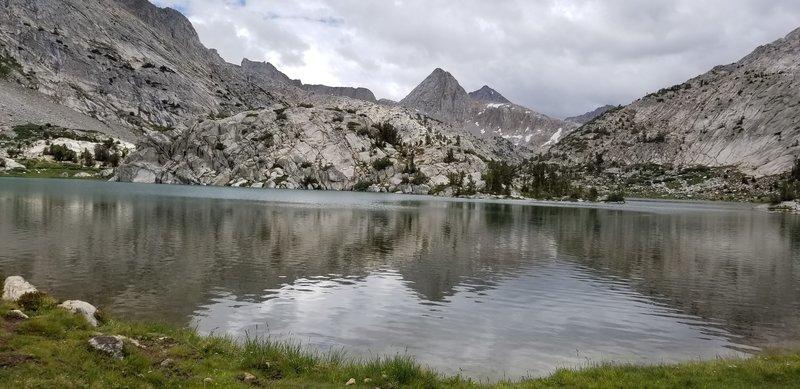 July 2018 JMT thru hike. Evolution Lake