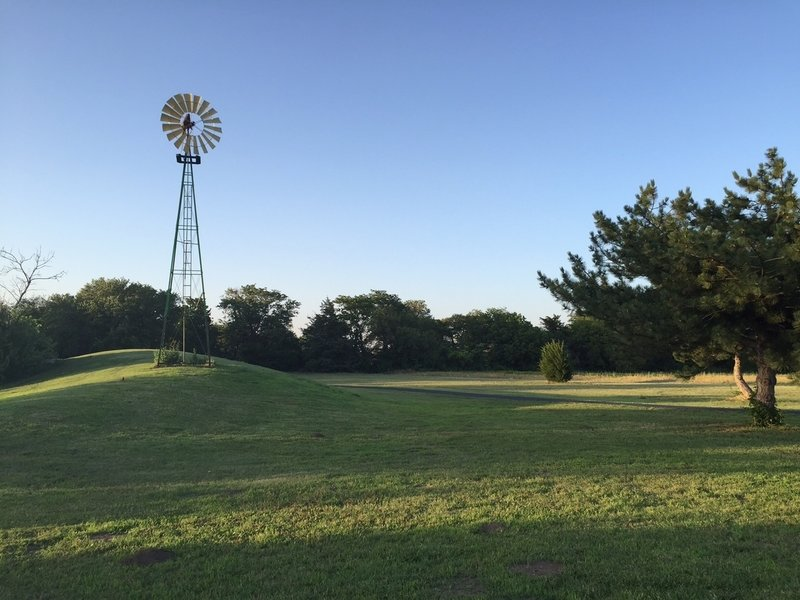 Historic windmill in the park