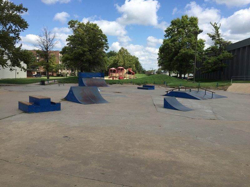 Skate park by the trail!