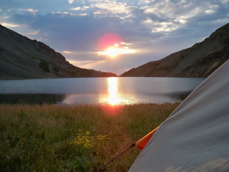 August 2012 - Enjoying a sunrise at copper lake