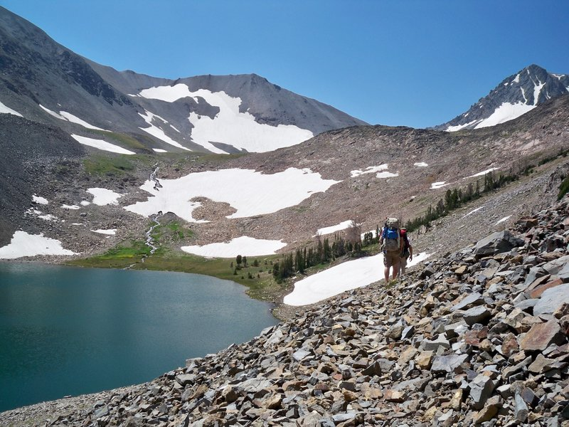 August 2012 - Making it across the north west side of copper lake