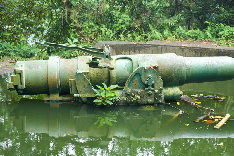 The 2nd gun battery was flooded after a couple days of rain.