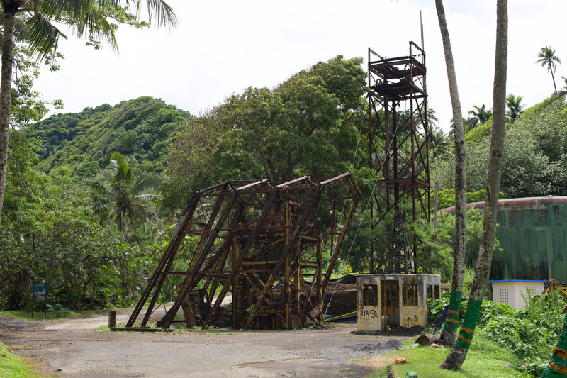 The old tram station on the hill above Pago Pago.
