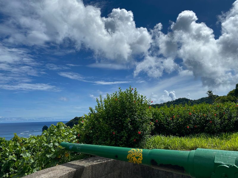 Views from the first gun battery overlooking the Pacific Ocean on a relatively clear day.  Clouds roll through pretty often, so make sure you have a jacket for any rain storms that pop up.