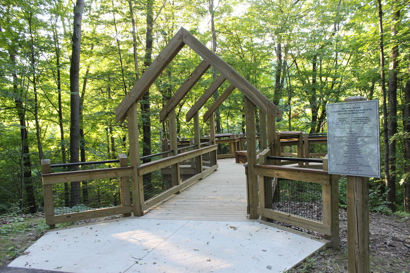 """Grand Ravines Overlook - August 2016."""" Courtesy of Ottawa County Parks & Recreation."""