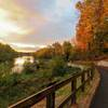 """Grand Ravines – Idema Explorers Trail at sunrise"""" by Lee Koets. Courtesy of Ottawa County Parks & Recreation."""