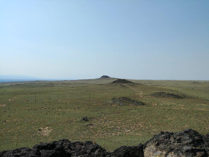 Overlooking the Volcanos