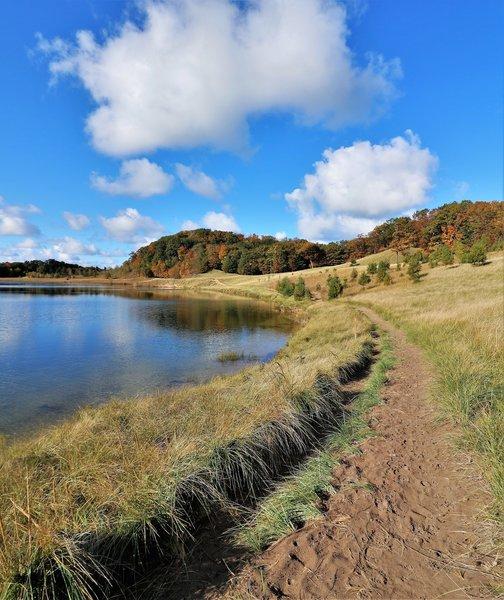 "The northwest shoreline of the lake"" by Mike Lozon. Photo courtesy of Ottawa County Parks & Recreation."