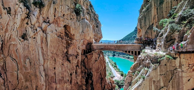 The famous bridge on the Caminito del Rey