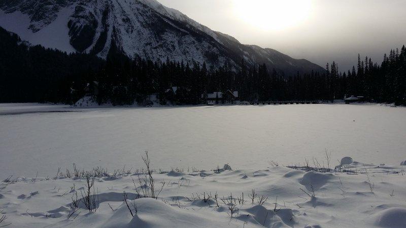 Emerald Lake and Emerald Lake Lodge in late November 2015