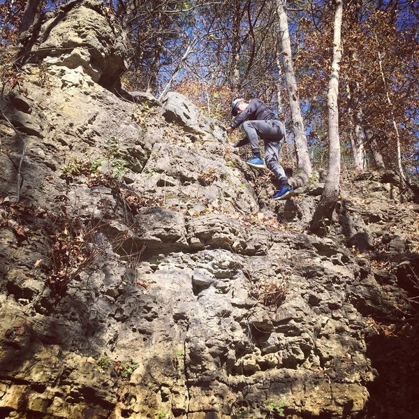 A short trek off-trail will take you to some fun bluffs to climb on!  Careful to not enter private property!