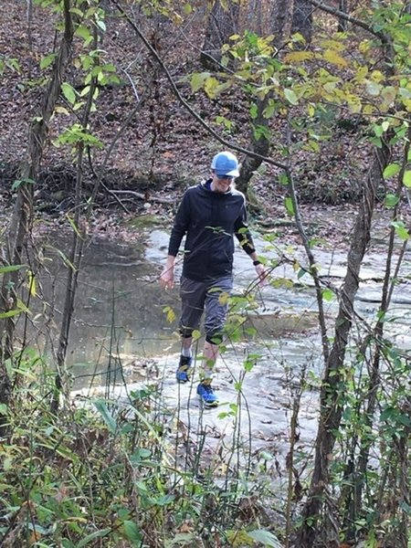 One of the few creek-crossings you'll encounter on this loop!