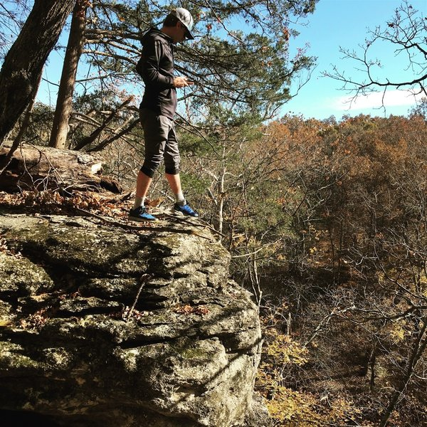 One of the many bluffs that are climbable!