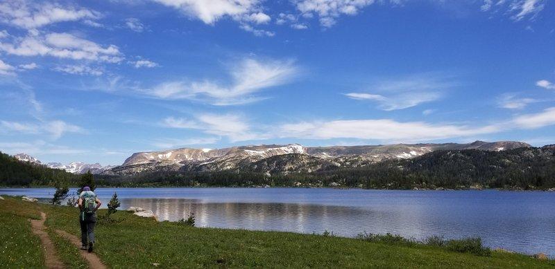 July 2019. Island lake