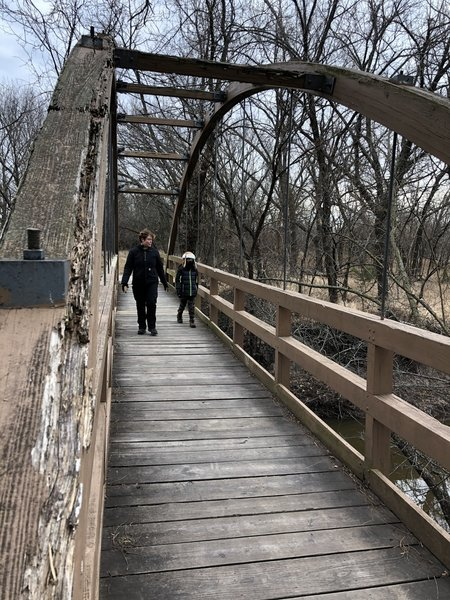 This bridge across the Cowskin Creek is the location of many family photos.