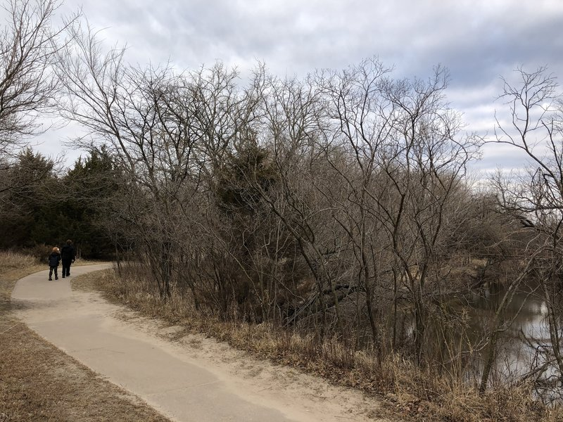 The paved loop along the creek