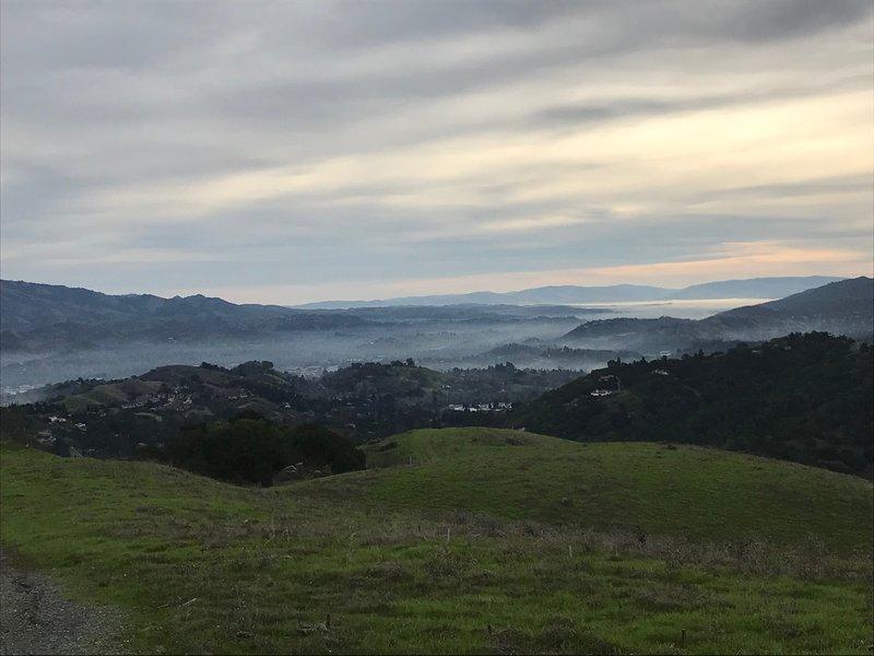 Southeast vista with winter fog.